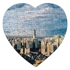Shanghai The Window Sunny Days City Jigsaw Puzzle (heart) by BangZart