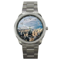 Shanghai The Window Sunny Days City Sport Metal Watch by BangZart