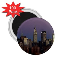 Skyline City Manhattan New York 2 25  Magnets (100 Pack)  by BangZart