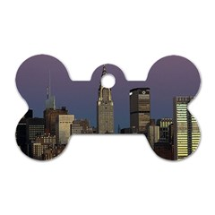 Skyline City Manhattan New York Dog Tag Bone (two Sides) by BangZart