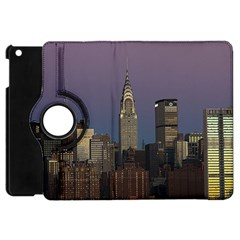 Skyline City Manhattan New York Apple Ipad Mini Flip 360 Case by BangZart