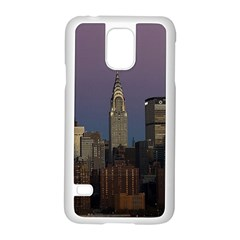 Skyline City Manhattan New York Samsung Galaxy S5 Case (white) by BangZart