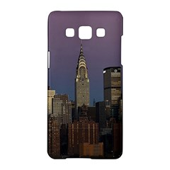 Skyline City Manhattan New York Samsung Galaxy A5 Hardshell Case  by BangZart