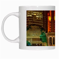 Shanghai Skyline Architecture White Mugs by BangZart