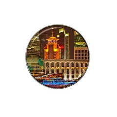 Shanghai Skyline Architecture Hat Clip Ball Marker (4 Pack) by BangZart