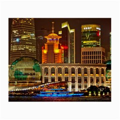 Shanghai Skyline Architecture Small Glasses Cloth (2 Side) by BangZart