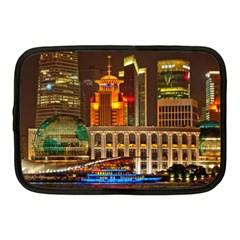 Shanghai Skyline Architecture Netbook Case (medium)  by BangZart