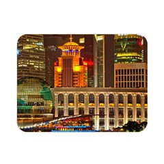 Shanghai Skyline Architecture Double Sided Flano Blanket (mini)  by BangZart