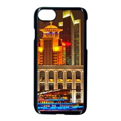 Shanghai Skyline Architecture Apple Iphone 7 Seamless Case (black) by BangZart