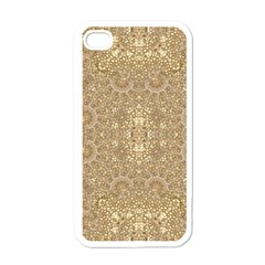 Ornate Golden Baroque Design Apple Iphone 4 Case (white) by dflcprints