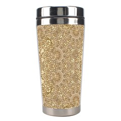 Ornate Golden Baroque Design Stainless Steel Travel Tumblers by dflcprints