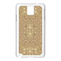 Ornate Golden Baroque Design Samsung Galaxy Note 3 N9005 Case (white) by dflcprints