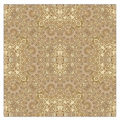 Ornate Golden Baroque Design Large Satin Scarf (square) by dflcprints