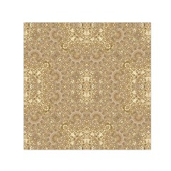 Ornate Golden Baroque Design Small Satin Scarf (square) by dflcprints