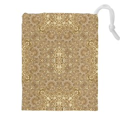 Ornate Golden Baroque Design Drawstring Pouches (xxl) by dflcprints