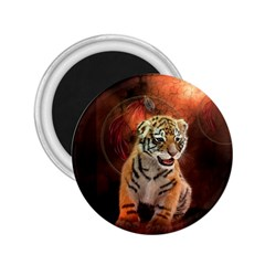 Cute Little Tiger Baby 2 25  Magnets by FantasyWorld7