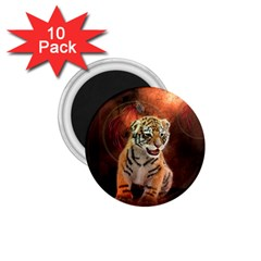 Cute Little Tiger Baby 1 75  Magnets (10 Pack)  by FantasyWorld7