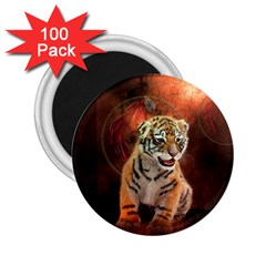Cute Little Tiger Baby 2 25  Magnets (100 Pack)  by FantasyWorld7