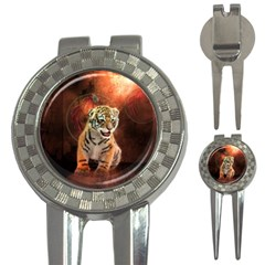 Cute Little Tiger Baby 3 In 1 Golf Divots by FantasyWorld7