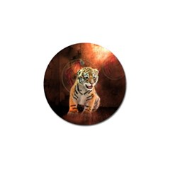 Cute Little Tiger Baby Golf Ball Marker by FantasyWorld7