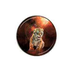 Cute Little Tiger Baby Hat Clip Ball Marker by FantasyWorld7