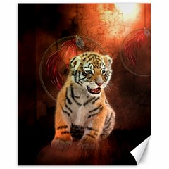 Cute Little Tiger Baby Canvas 16  X 20   by FantasyWorld7