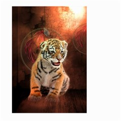Cute Little Tiger Baby Large Garden Flag (two Sides) by FantasyWorld7