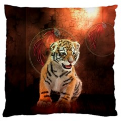 Cute Little Tiger Baby Standard Flano Cushion Case (one Side) by FantasyWorld7