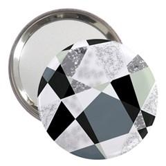 Monogram Marble Mosaic 3  Handbag Mirrors by allgirls
