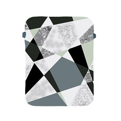 Monogram Marble Mosaic Apple Ipad 2/3/4 Protective Soft Cases by allgirls
