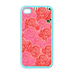 Roses Apple Iphone 4 Case (color) by allgirls