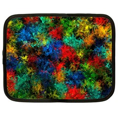 Squiggly Abstract A Netbook Case (large) by MoreColorsinLife