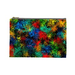 Squiggly Abstract A Cosmetic Bag (large)  by MoreColorsinLife