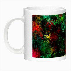 Squiggly Abstract B Night Luminous Mugs by MoreColorsinLife