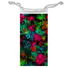 Squiggly Abstract B Jewelry Bag by MoreColorsinLife