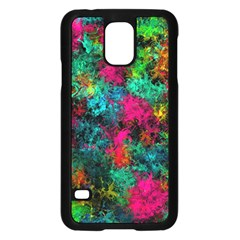 Squiggly Abstract B Samsung Galaxy S5 Case (black) by MoreColorsinLife