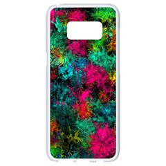 Squiggly Abstract B Samsung Galaxy S8 White Seamless Case by MoreColorsinLife