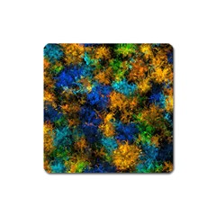 Squiggly Abstract C Square Magnet by MoreColorsinLife