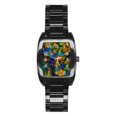 Squiggly Abstract C Stainless Steel Barrel Watch by MoreColorsinLife