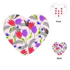 Floral Paradise Playing Cards (heart)  by allgirls