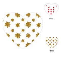 Graphic Nature Motif Pattern Playing Cards (heart)  by dflcprints