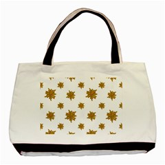 Graphic Nature Motif Pattern Basic Tote Bag (two Sides) by dflcprints