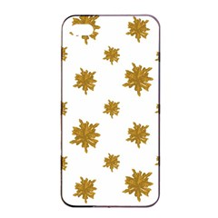 Graphic Nature Motif Pattern Apple Iphone 4/4s Seamless Case (black) by dflcprints