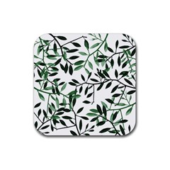Botanical Leaves Rubber Square Coaster (4 Pack)  by allgirls
