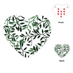 Botanical Leaves Playing Cards (heart)  by allgirls