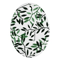 Botanical Leaves Oval Ornament (two Sides) by allgirls