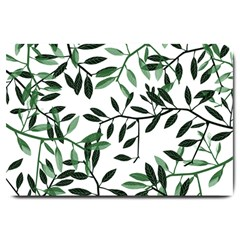 Botanical Leaves Large Doormat  by allgirls