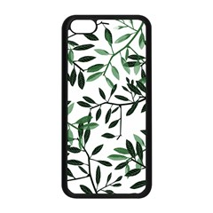 Botanical Leaves Apple Iphone 5c Seamless Case (black) by allgirls