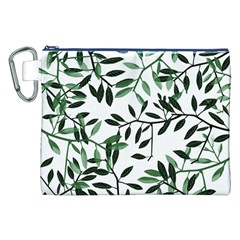 Botanical Leaves Canvas Cosmetic Bag (xxl) by allgirls