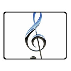 Musical Note  Fleece Blanket (small) by Photozrus